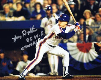 55ea2f8d79b Lenny Dykstra Autographed 8x10 Photo with Inscription - W COA NY Mets