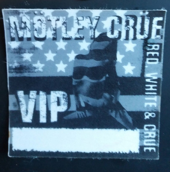 Motley Crue concert Stage pass Red white and coler gray | Etsy