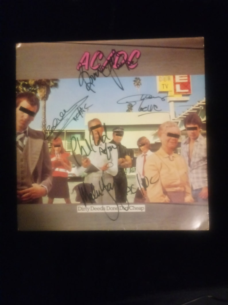 ACDC AUTOGRAPH SIGNED PP PHOTO POSTER