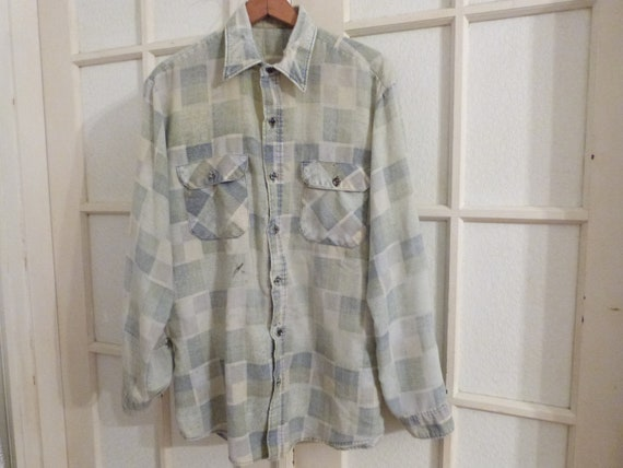 Awesome Vintage 1980's Flannel Shirt- Men's Large