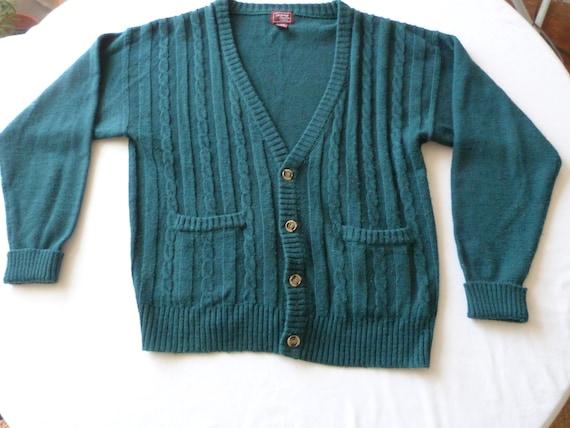 Vintage 1980's Men's Large Cardigan Sweater
