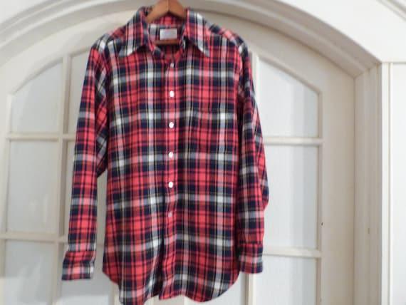 Vintage 1970's Flannel Shirt- Men's XL