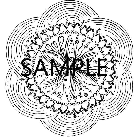 Un Mandala De Coloriage Relaxant Et Imprimable Telecharger Etsy