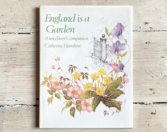 England is a Garden Vintage Illustrated Nature Book, Paper Anniversary Present, Birthday Gift Wife Mum Grandma Aunt Daughter Niece Sister