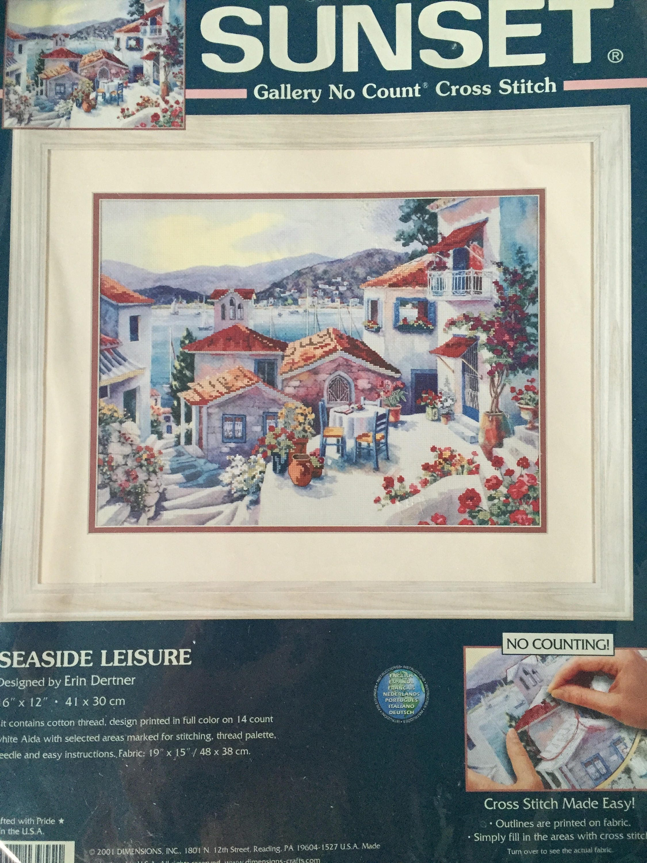 Sunset Cross Stitch Kit Seaside Leisure 13955 Rare Etsy