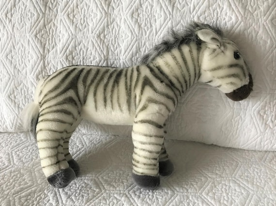 Vintage Zebra Stuffed Animal Animal Planet Toy Collectable