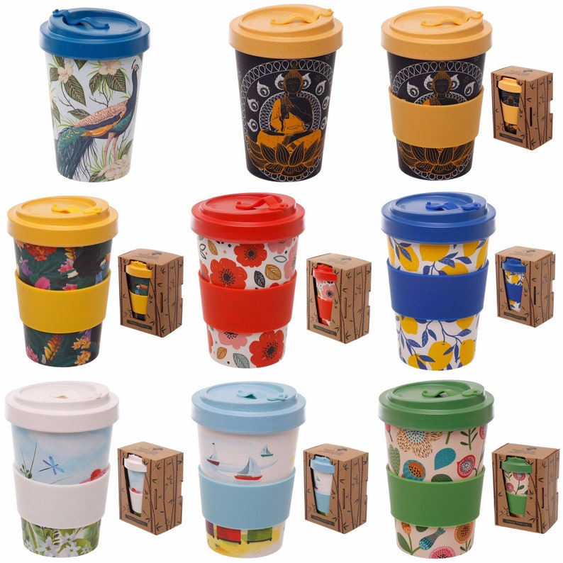 Cup Designs No Mug Plastic Bamboo Mugs Friendly Coffee PineappleCatCactusCheese Travel Eco Plant 1FJ3KTlc