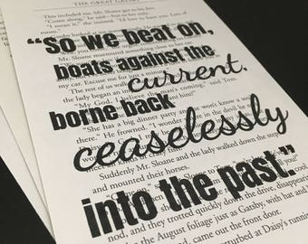 The Great Gatsby - So We Beat On Quote