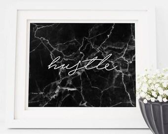 Hustle Marble Print –Instant Download