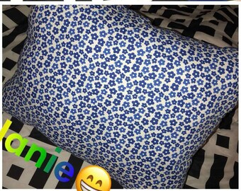Blue Flower Pillow