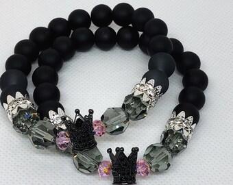 Black Queen Beaded Bracelet