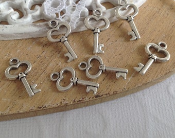 Silver-plated 15.5 x 9 mm X 20 key fobs