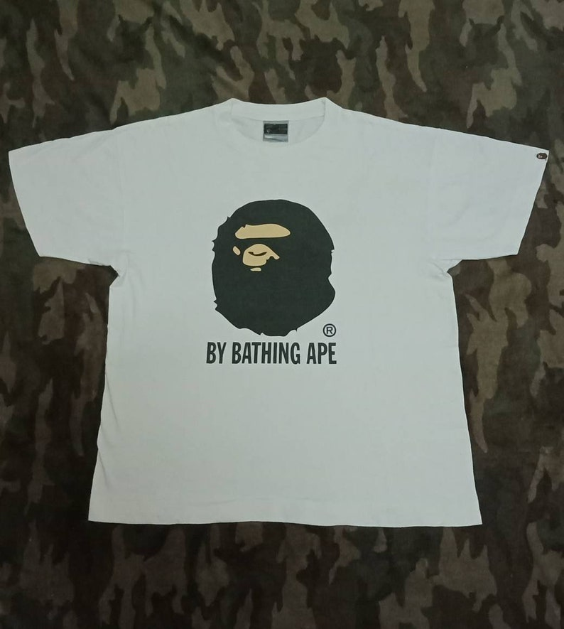 e6cf5c57c975 Vintage Bape Bathing Ape Big Logo T shirt Single Stich Made In