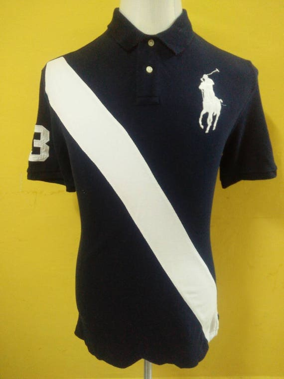 Polo By Ralph Lauren Big Logo Embroidery Number Polo T Shirt Etsy