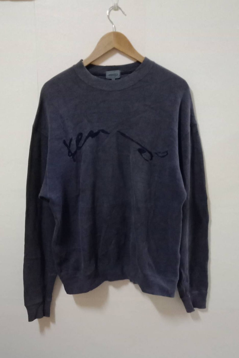 9a4790ce Mega SaleVintage Sweatshirt Kenzo Spell Out / Embroidery   Etsy