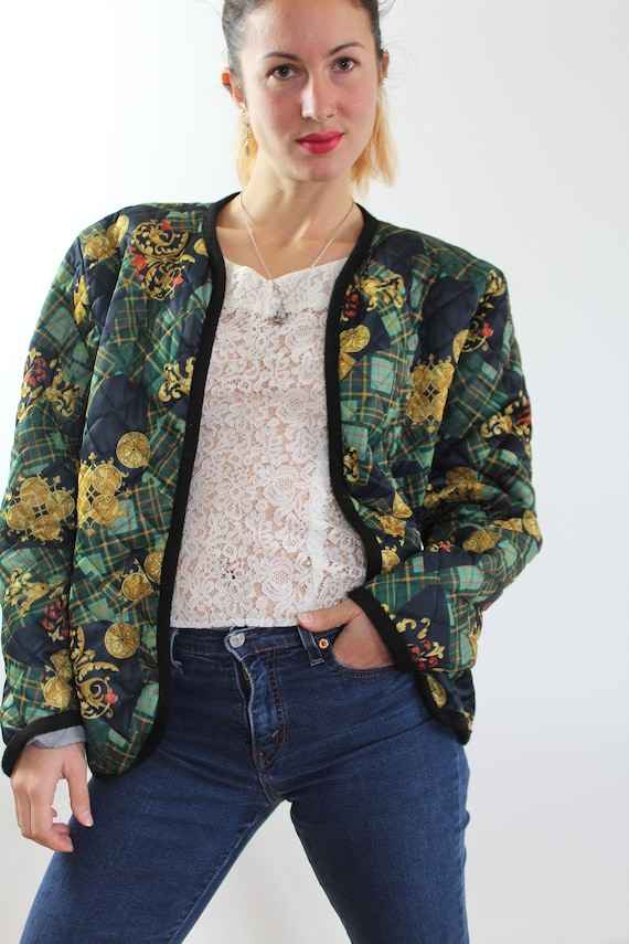 Vintage bombers quilted patterns green scarves
