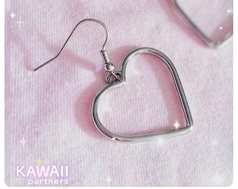 Cute Sweet Heart Earrings   KawaiiPartners