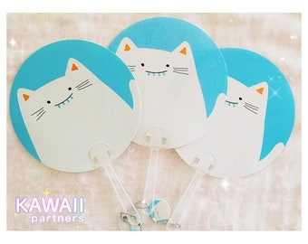 Kawaii Cat Hand Fan |  KawaiiPartners