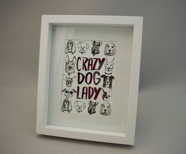 Crazy Lady Frames Gifts For Wife Gifts For Coworkers Etsy