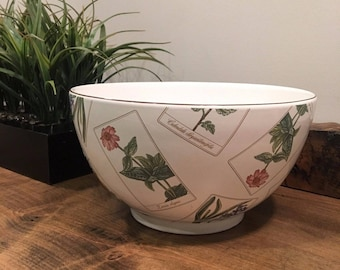 Tiffany and Co mixing // serving bowl in fun Botanical pattern