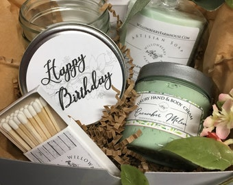 Custom Friend Gift Box For Birthday Her Personalized Spa