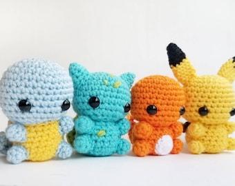 Crochet Toy pattern Amigurumi Pokemon Pikachu Pokeball. Plush ... | 270x340