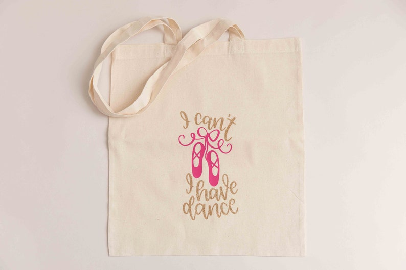 PERSONALISED CUTE BALLERINA Birthday Party Cotton Tote Bag Gift Any Name Girl