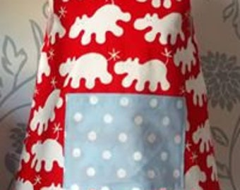 Happy Hippo Pinafore Dress - Age 1-2 years