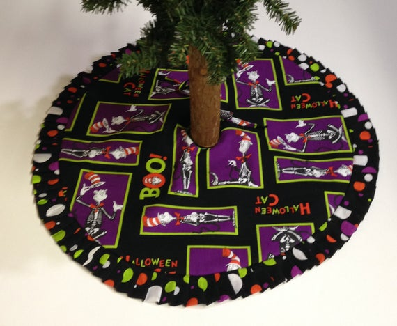 arkansewn small tabletop halloween tree skirt 24 black with metallic silver spiderwebs 24