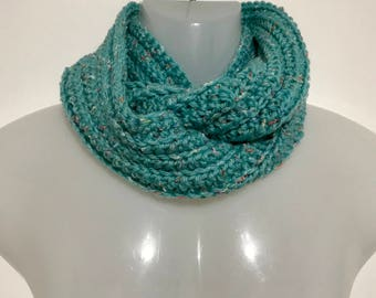 Turquoise Multi-Color Infinity Scarf- Winter-Children/Kids
