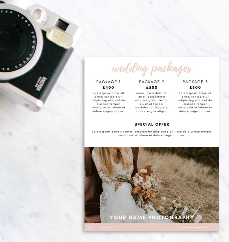 Wedding photography pricing template wedding photography image 0