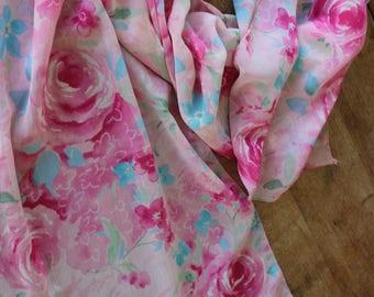 Floral Pink Scarf