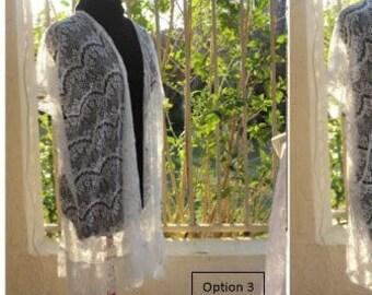 White Lace Jacket with Fringe