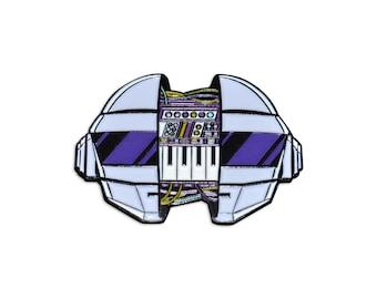 Daft Punk Helmet Synth Synthwave Enamel Pin