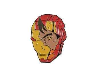 """Iron Man 1.5""""  full color soft enamel pin - Marvel Avengers Infinity War"""