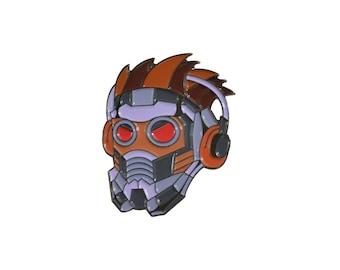 "Star-Lord 1.5"" Full color soft enamel pin - Marvel Avengers Infinity War"