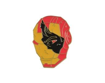 "Iron Man 1.5""  gold trim soft enamel pin - Marvel Avengers Infinity War"