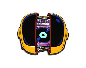 Daft Punk Helmet Synth Synthwave Vol 2. Enamel Pin