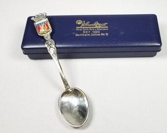 Paris France Souvenir Spoon Antique Arc De Triumph French Souvenir Arc de Triomphe French Memento Demitasse Spoon SALE