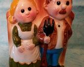 Inarco Mom and Pop Vase Ceramic Planter Retro Vase Vintage