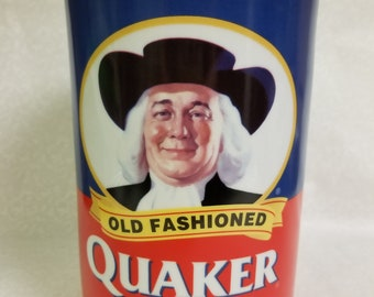 Vintage Quaker Oats 120th Anniversary Ceramic Canister, Old Fashioned Quaker Oats, Cookie Jar