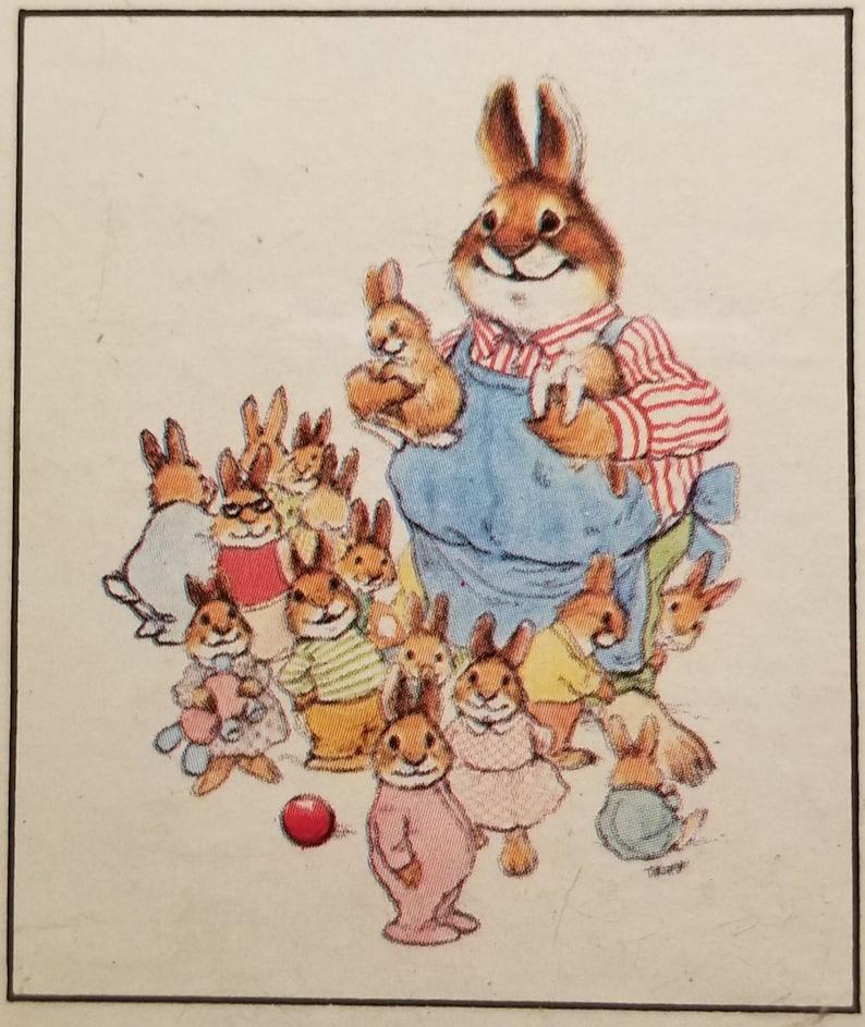Vintage Mini Jigsaw Puzzle ~ Pawprints Jigsaw Pic Me Up Puzzles ~ Bunny Puzzle ~ Easter Puzzle ~ 100 Interlocking Pieces ~ 1976