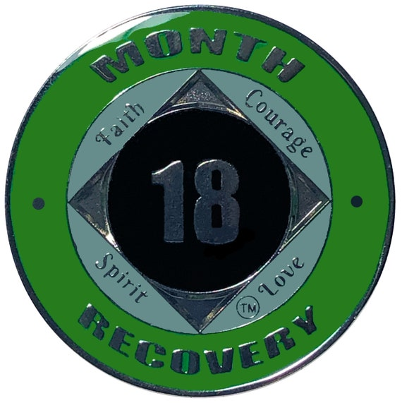 NA 18 Months Coin, Narcotics Anonymous Medallion