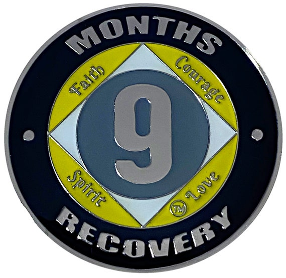 NA 9 Months Coin, Narcotics Anonymous Medallion