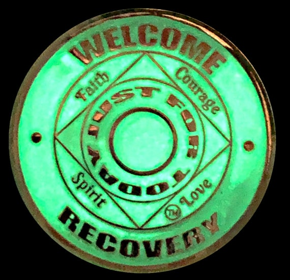 Gold Plated Medallion Recovery Chip 12 Step Token 30 Days NA Coin
