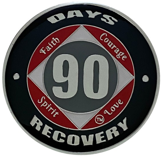 NA 90 Days Coin, Narcotics Anonymous Medallion
