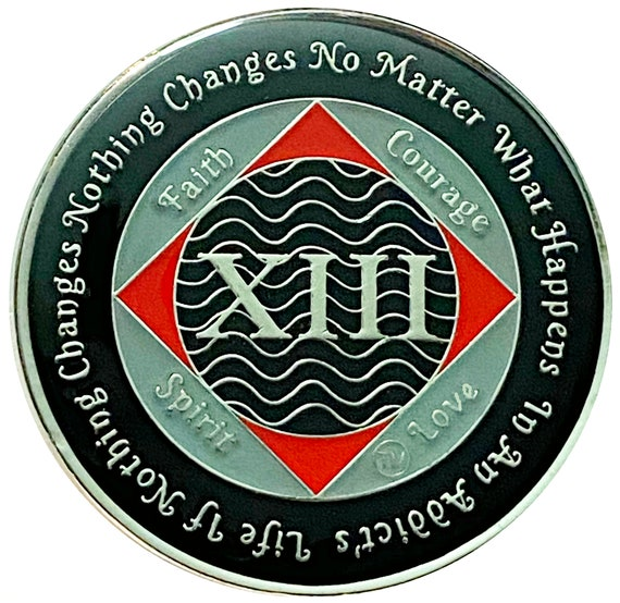 Narcotics Anonymous 13 Year Silver Color Plated Recovery Medallion, Token, Coin