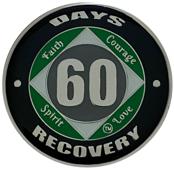 60 Days NA Coin, Medallion, Recovery Chip, 12 Step Token, narcotics anonymous coin