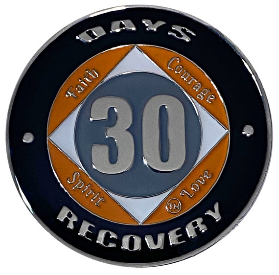 NA 30 Days Coin, Narcotics Anonymous Medallion