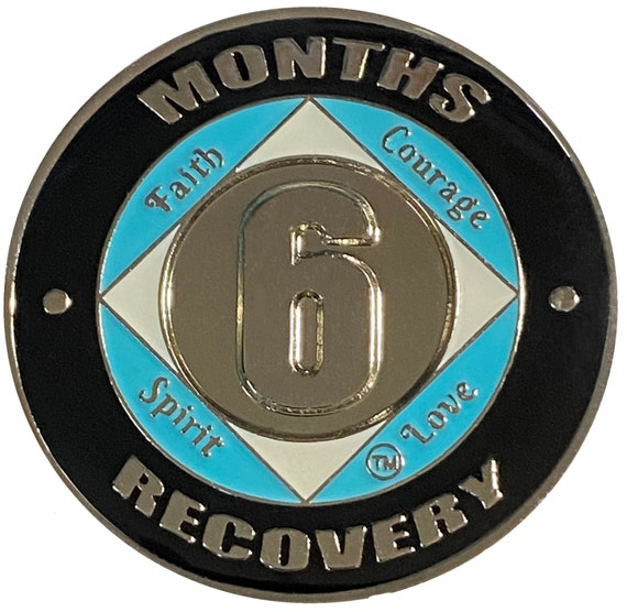 NA 6 Months Coin, Narcotics Anonymous Medallion